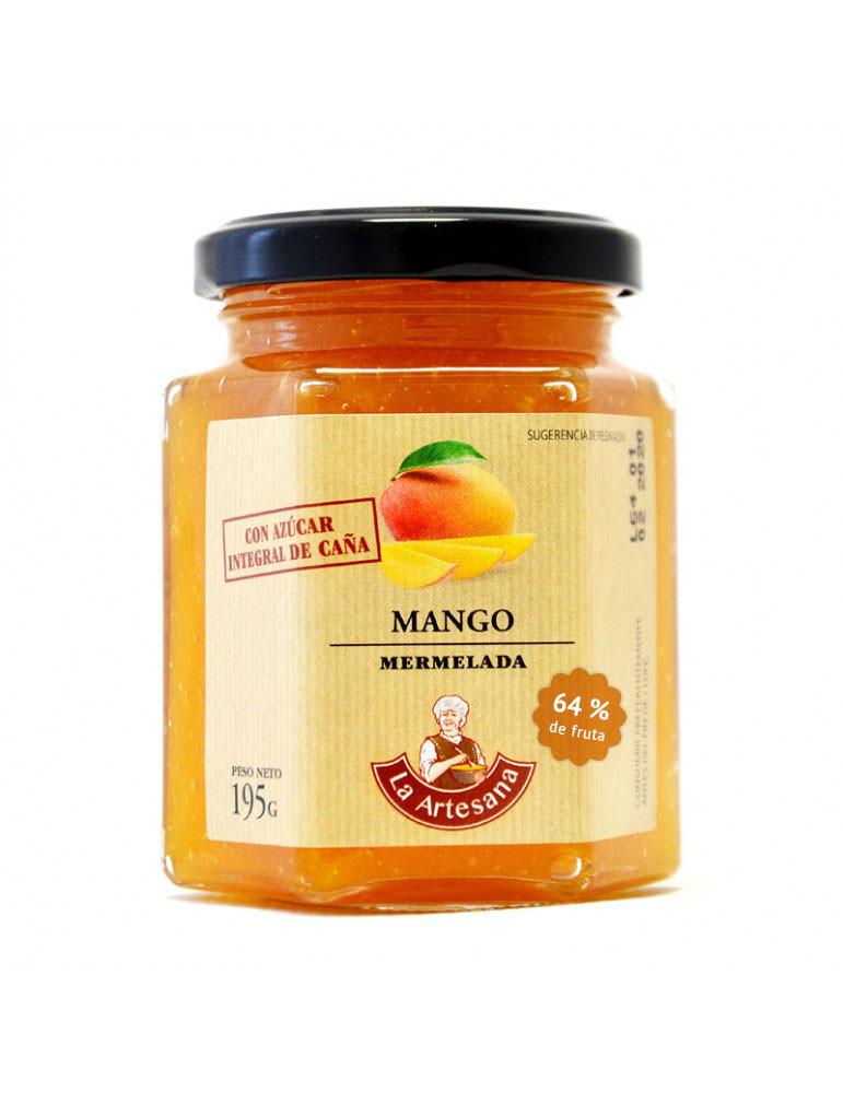 Mermelada de mango con azúcar integral de caña