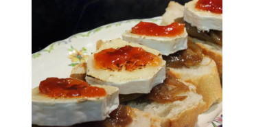 Natillas de naranja con mermelada