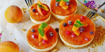Receta: Tarta de cuajada con mermelada de albaricoque