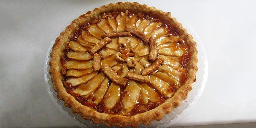 Receta: Tarta de manzana con mermelada de melocotón